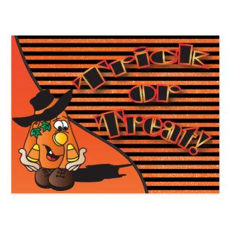 Postal Calabaza linda el | Halloween del dibujo animado