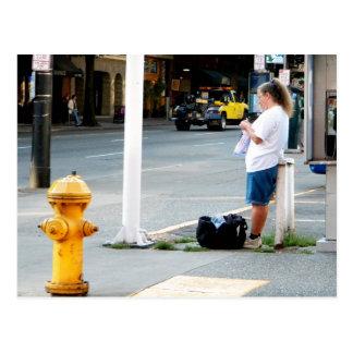Postal Calcetero de la calle