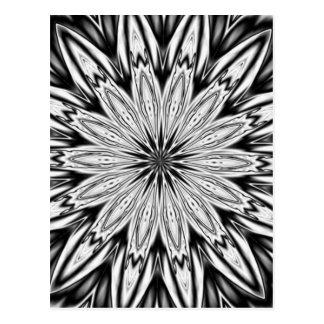 Postal Caleidoscopio blanco y negro