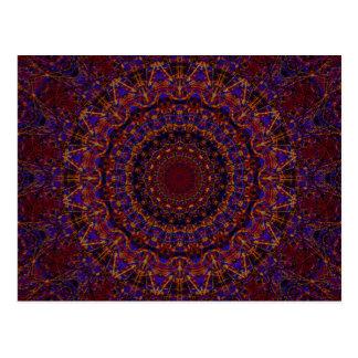 Postal Caleidoscopio del fractal de las secuencias