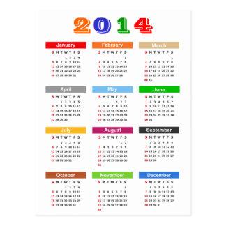 Postal Calendario 2014 - el múltiplo estándar colorea