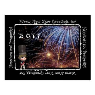 Postal caliente de 2017 saludos del Año Nuevo