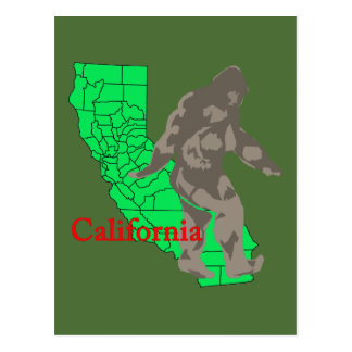 Postal California Bigfoot