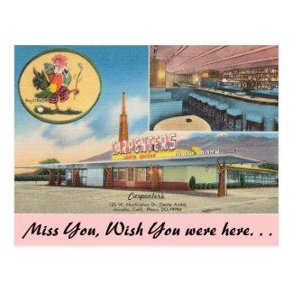 Postal California, el restaurante del carpintero