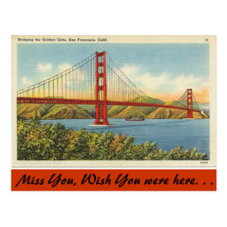 Postal California, puente Golden Gate