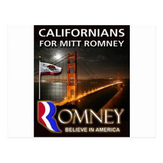 Postal Californians para Mitt Romney 2012