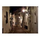 Postal Calle de Altea por la noche