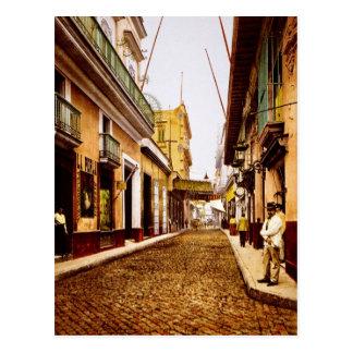 Postal Calle de Habana La Habana Cuba