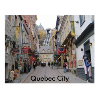 Postal Calle de la ciudad de Quebec