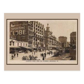 Postal Calle de Swanston del vintage, Melbourne