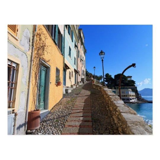 Postal calle en Bogliasco, Liguria, Italia