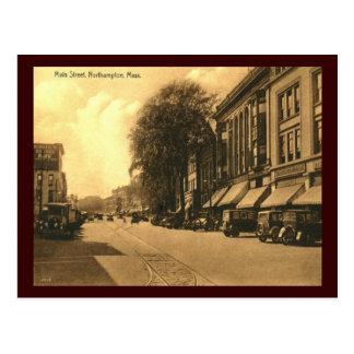 Postal Calle principal, vintage de Northampton,