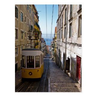 Postal Calle y tranvía de Lisboa el alto de Bairro