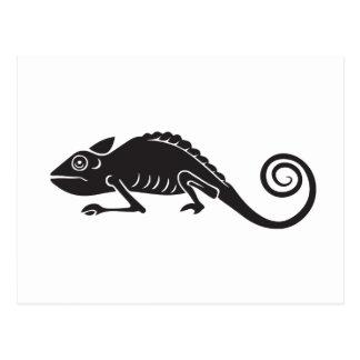 Postal camaleón simple