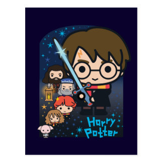 Postal Cámara de Harry Potter del dibujo animado de