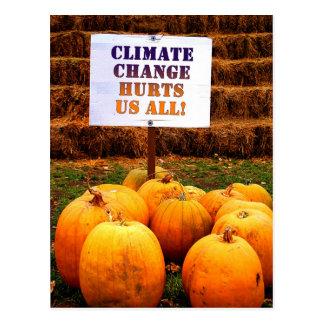 Postal Cambio de clima de la protesta de las calabazas