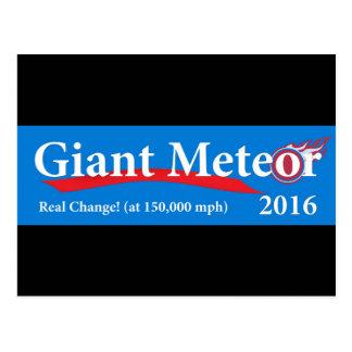 Postal Cambio real del meteorito 2016 gigantes en 150.000