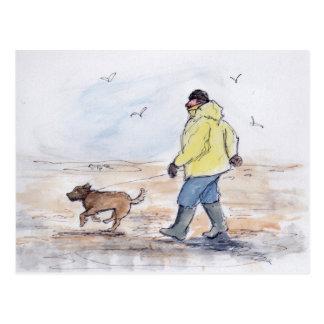 Postal Caminando el perro - 01