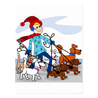 Postal Caminante del perro