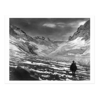 Postal Caminante en el valle del Aconcagua en el chile