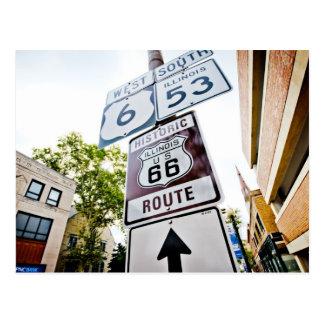 Postal Camino de la madre de la ruta 66