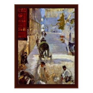 Postal Camino Workers Rue De Bernes Detail de Manet