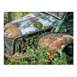 Postal Camión abandonado del vintage