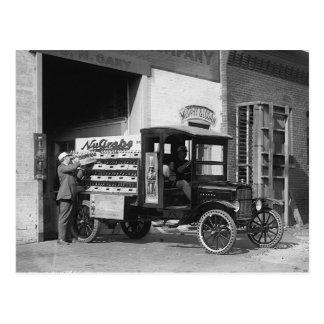 Postal Camión de reparto de la gaseosa, 1924