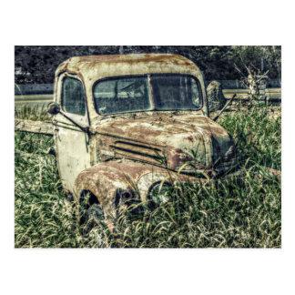 Postal Camión del trabajo de la antigüedad del vintage
