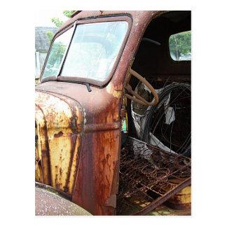 Postal Camión viejo ninguna puerta