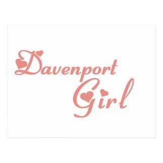 Postal Camisetas del chica de Davenport