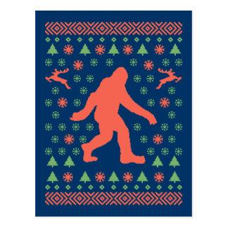 Postal Camisetas del suéter del día de fiesta de Bigfoot