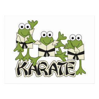 Postal Camisetas y regalos de las ranas del karate