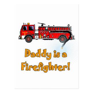 Postal Camisetas y regalos del bombero del papá del coche