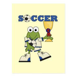 Postal Camisetas y regalos del fútbol de la rana