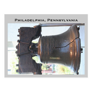 Postal campana de libertad, Philadelphia, Pennsylvania