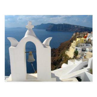 Postal Campanario de Santorini por la tarde Sun