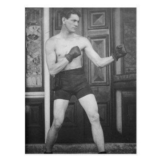 Postal Campeón del boxeo del vintage