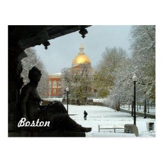 Postal Campo común de Boston