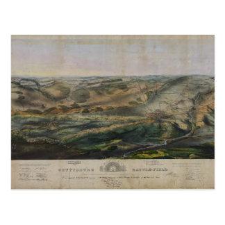 Postal Campo de batalla de Gettysburg de Juan Bachelder