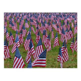 Postal Campo de las banderas - banderas americanas