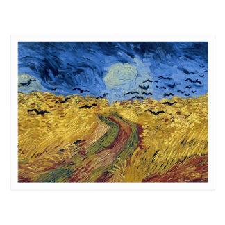 Postal Campo de trigo con los cuervos de Vincent van Gogh