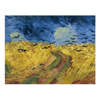 Postal Campo del trigo de Vincent van Gogh con los