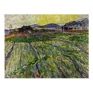 Postal Campos de trigo de Van Gogh