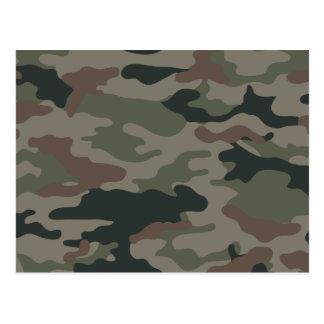 Postal Camuflaje del ejército en verde y los militares de