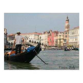 Postal Canal de Venecia con el puente