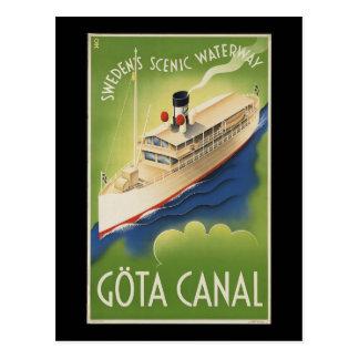 Postal Canal Suecia de Gota