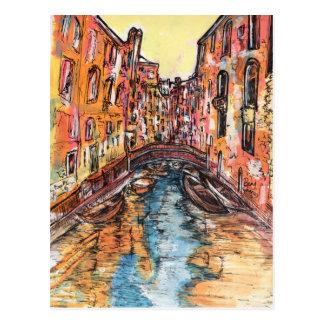 Postal Canales de Venecia