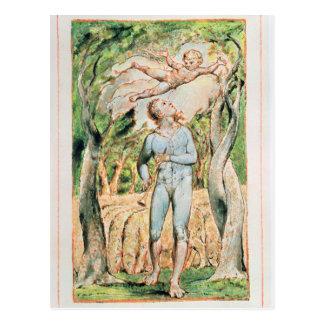 """Postal Canciones de la inocencia; """"el gaitero"""", 1789"""