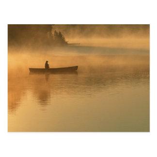 Postal canoeist, parque de Algonguin, Ontario, Canadá